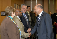 Governor Doyle at Board of Regents meeting