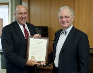 Gov. Jim Doyle (left) and Regent Walsh