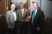 Regent Emeritus Randall receiving Resolution of Appreciation