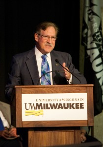 UW-Milwaukee Chancellor Carlos Santiago