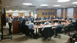 The UW System Board of Regents at its July 2015 meeting.