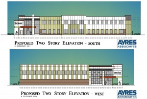 UW-River Falls Incubator elevation