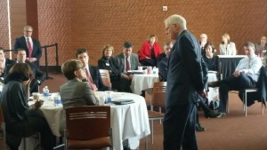 Kirwan leading a workshop with the Board of Regents