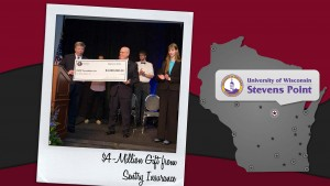 UW-Stevens Point presented with Sentry Insurance gift