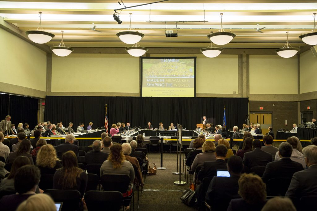 Board of Regents meeting hosted by UW-Milwaukee on June 9, 2016