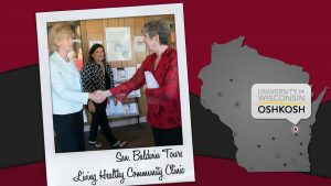 Sen. Baldwin meets LHCC director Leona Whitman