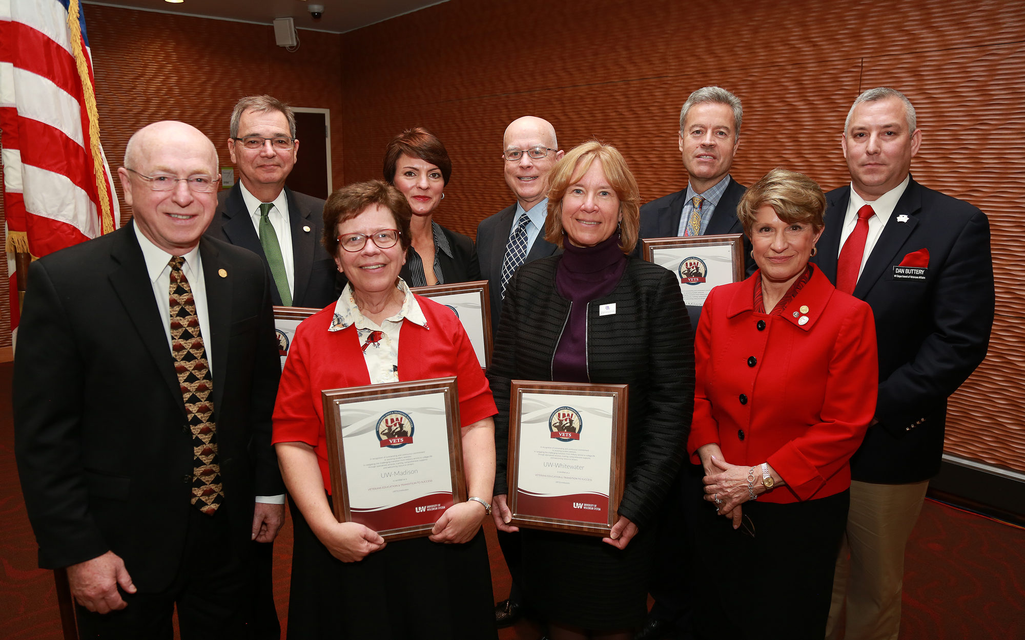 Uw System Presents Vets Certification To Six Institutions