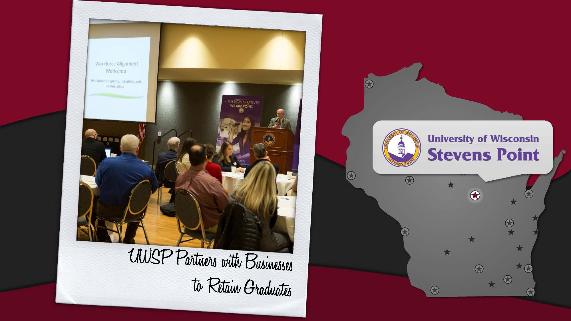 news from around the uw system news uwsp partners businesses to retain graduates uw stevens point