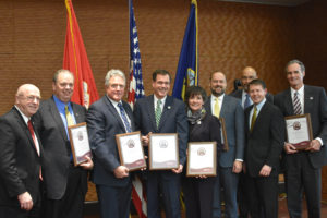 Photo of UW System presenting VETS certification