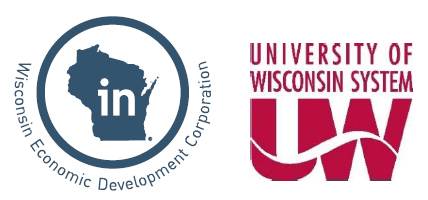 Logos for Wisconsin Economic Development Corporation and UW System