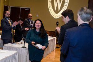 Bee Vang receiving award