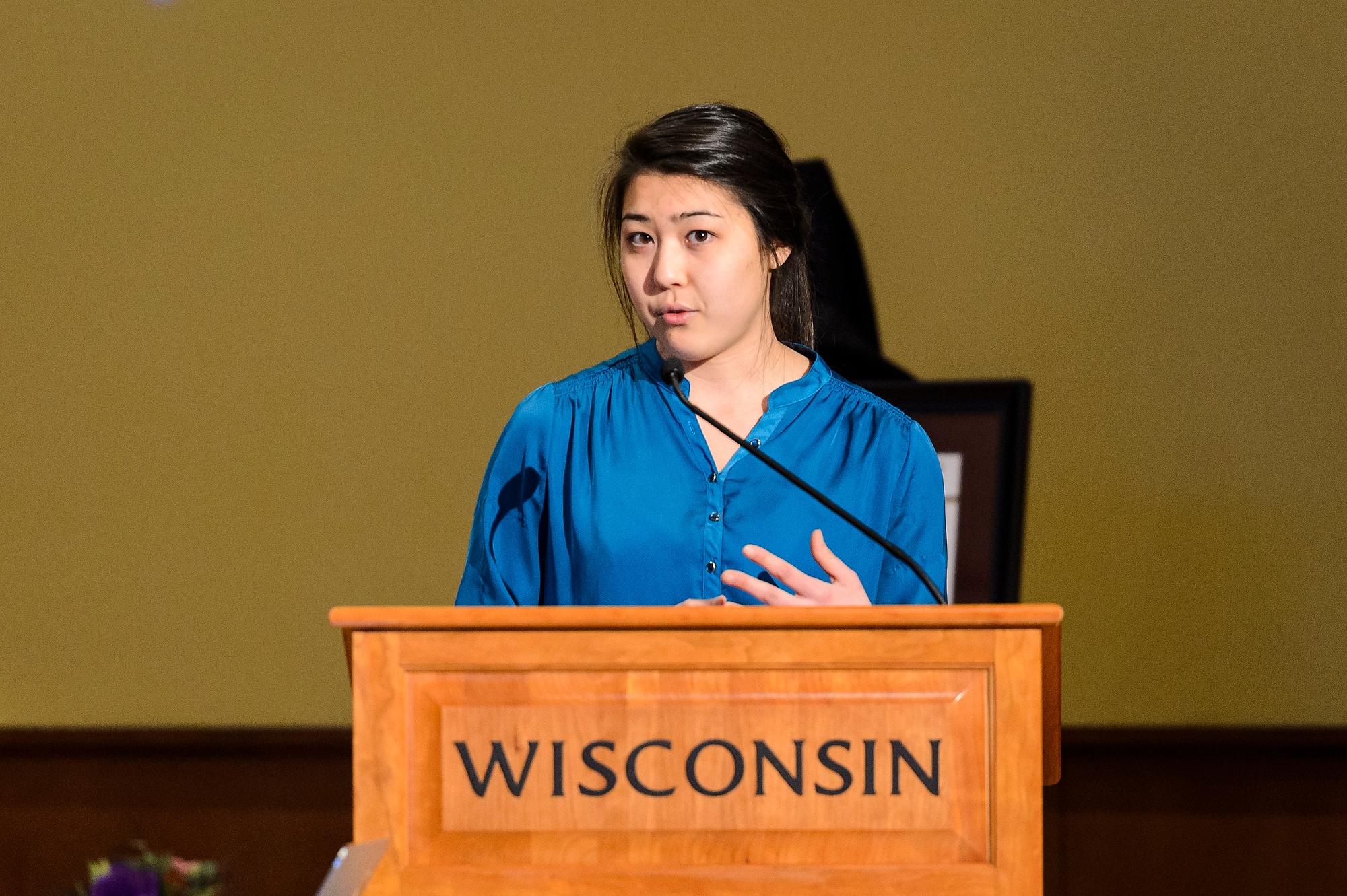 Spotlighted UW-Madison student Isabel Markowski