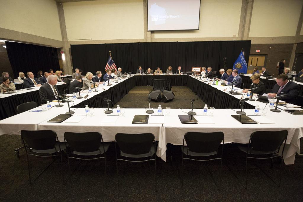 Photo of UW-Milwaukee's hosting of the Board of Regents June 2018 meeting