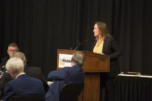 Photo of UW-Milwaukee Athletic Director Amanda Braun