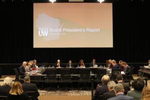 Photo of Board of Regents meeting held December 7, 2018, at UW-La Crosse