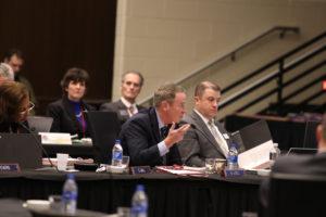 Photo of Regent Mike Jones taken at UW System Board of Regents meeting hosted by UW-La Crosse on December 6, 2018