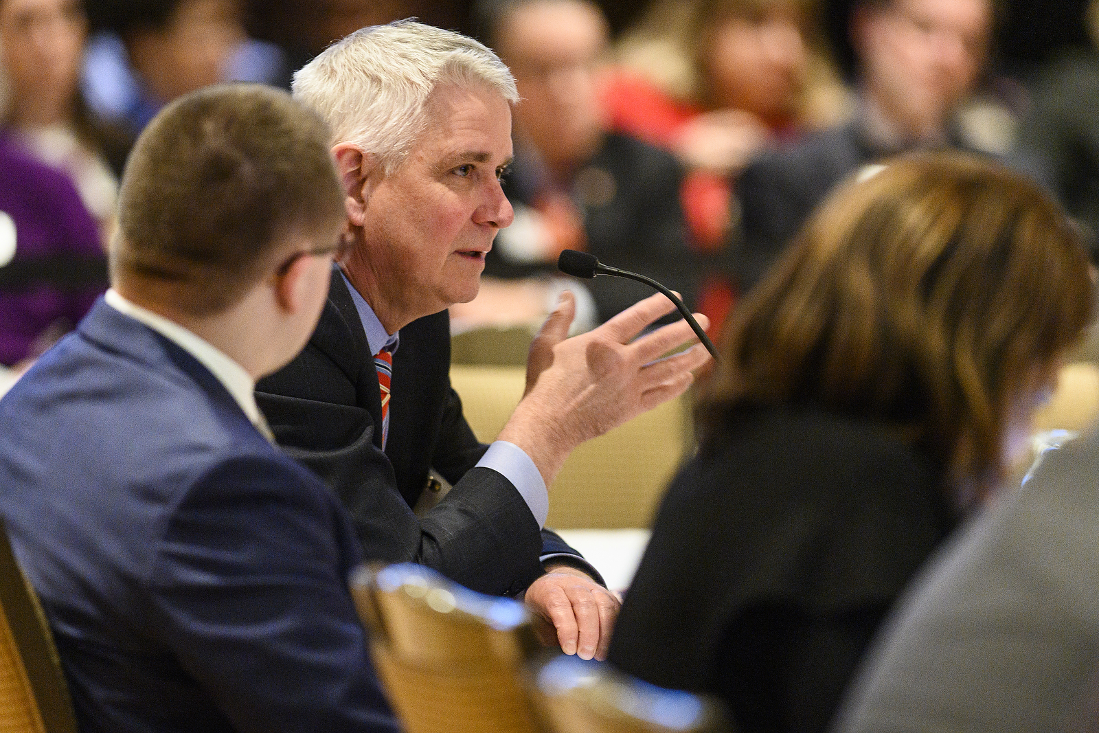 UW System Regent Robert Atwell speaks at the UW System Board of Regents meeting hosted at Union South at the University of Wisconsin-Madison on Feb. 7, 2019. (Photo by Bryce Richter /UW-Madison)