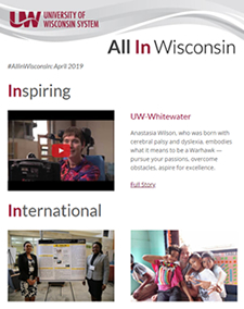 Screenshot of All In Wisconsin issue