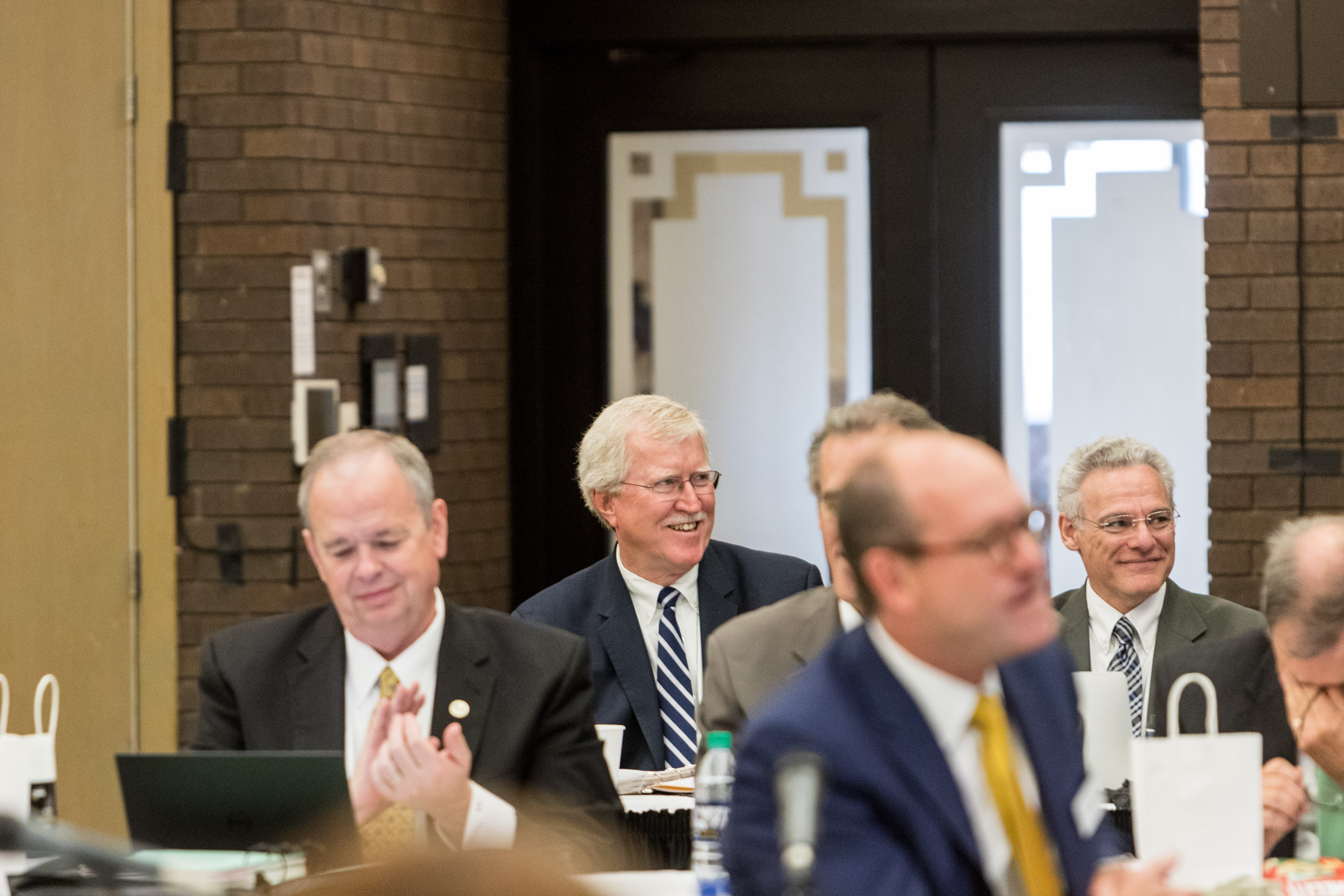 Photo of Jim Henderson at Board of Regents meeting hosted by UW-Milwaukee on June 6, 2019. (Photo by Mikaila Dusenberry/UW-Milwaukee)