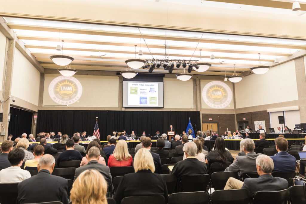 Photo of June 6, 2019, Board of Regents meeting, hosted by UW-Milwaukee