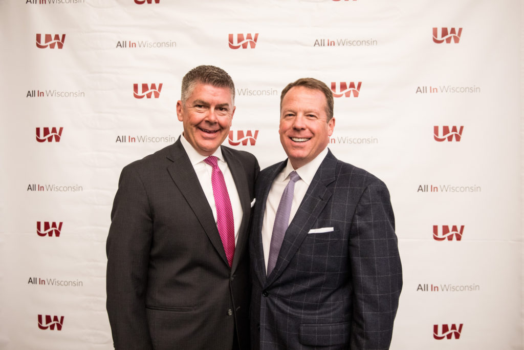 Photo of newly elected leadership for the UW System Board of Regents: (from left) Regent President Drew Petersen and Regent Vice President Michael M. Grebe