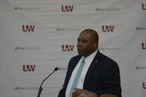 Photo of UW-Green Bay Athletic Director Charles Guthrie