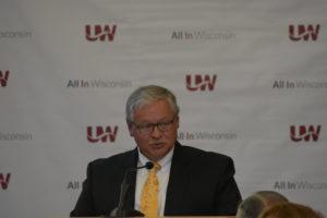 Photo of Regent Emeritus S. Mark Tyler making remarks