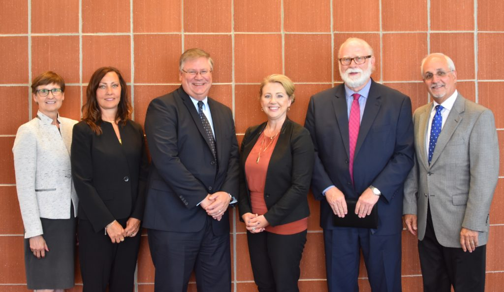 Photo of SBDC panel members and IBE Executive Director Mark Lange