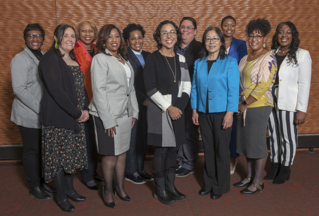 Photo of 2019 recipients of Outstanding Women of Color Award