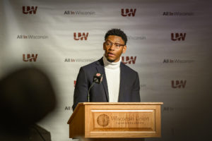 Photo of UW-Madison undergraduate Kevin Crosby