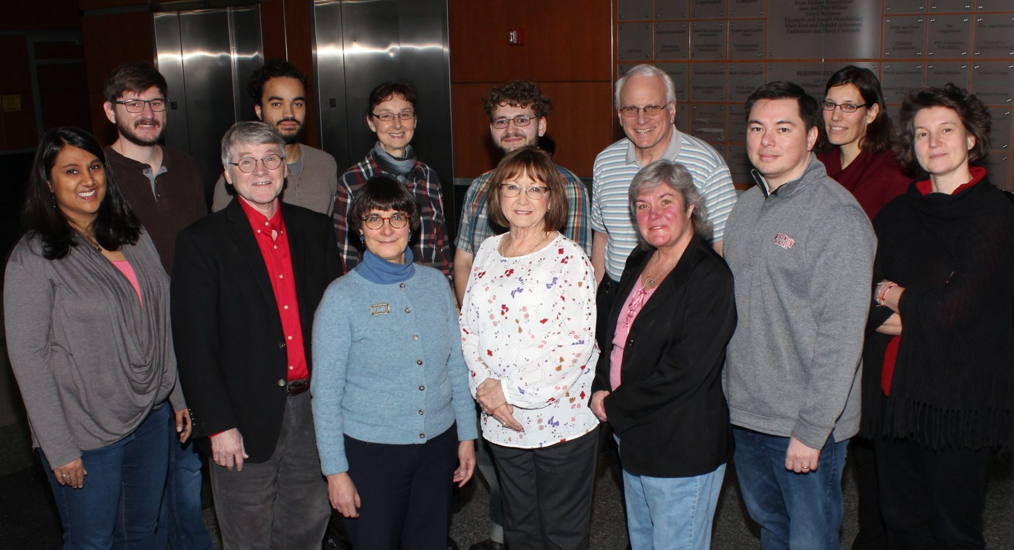 Photo of members of the Department of Chemistry Climate and Diversity Committee, UW-Madison