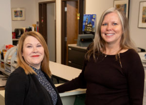 Photo of Angela Ruppe and Gail Mentzel, UW-Stout Fostering Success program