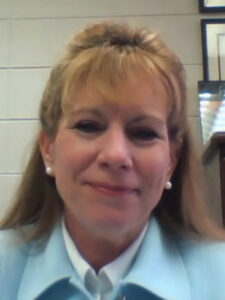 Photo of Dr. Renee Redman, accepting 2021 Teaching Excellence Award through virtual award ceremony
