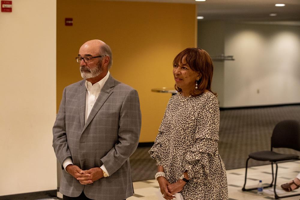 Photo of Regent Emeritus Michael Falbo and Regent Eve Hall