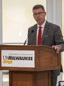 Photo of Regent President Andrew S. Petersen at the June 3, 2021, Board of Regents meeting hosted by UW-Milwaukee