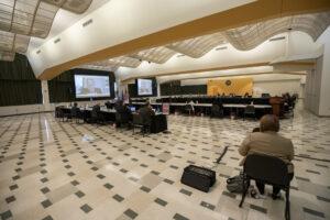 Photo of ballroom at UW-Milwaukee, site of June 2021 Board of Regents meeting