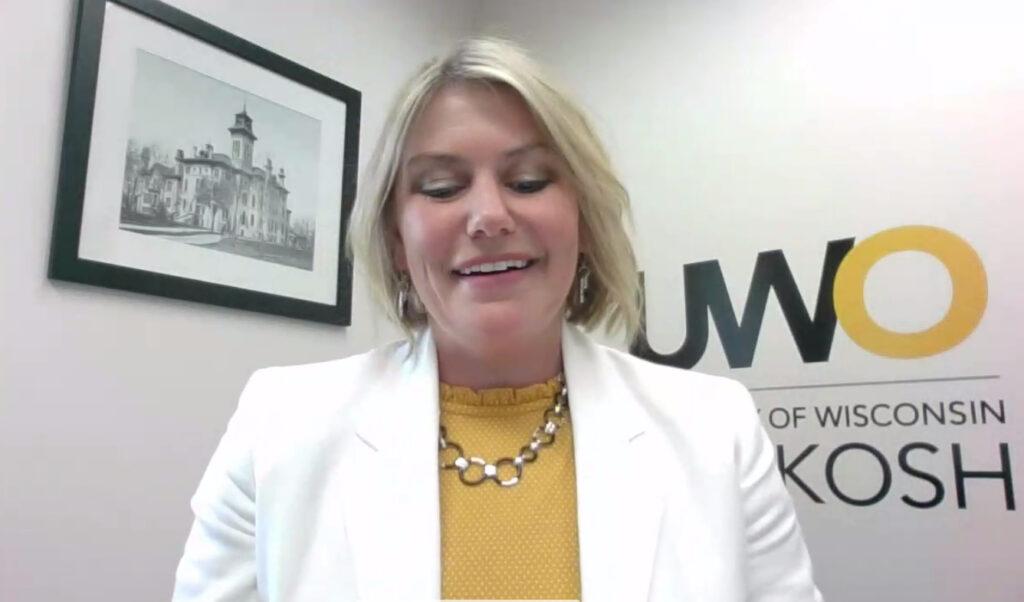 Photo of Kimberly Langolf, UW Oshkosh, recipient of Board of Regents 2021 Academic Staff Excellence Award