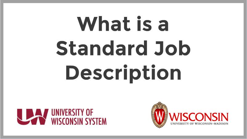 Standard Job Description video ad