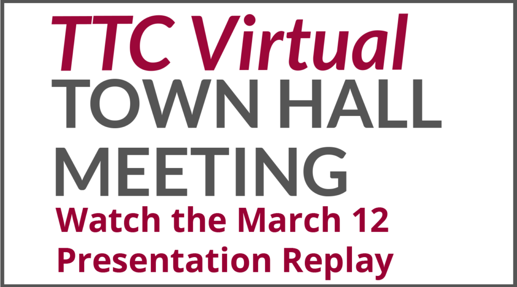March 12 Town Hall Meeting Replay ad