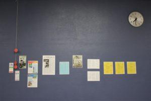 memorablia on cafeteria wall