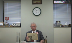 Dr. bassam Shakhashiri at his desk