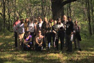 group shot hiking