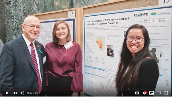 Screenshot of interviews with2019 Research in the Rotunda students