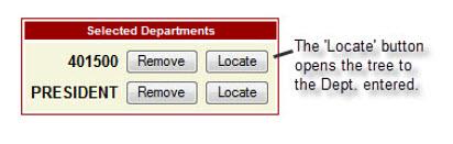 WISDM Locate Button