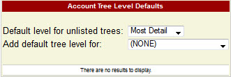 Default Tree Level for Summary Reports