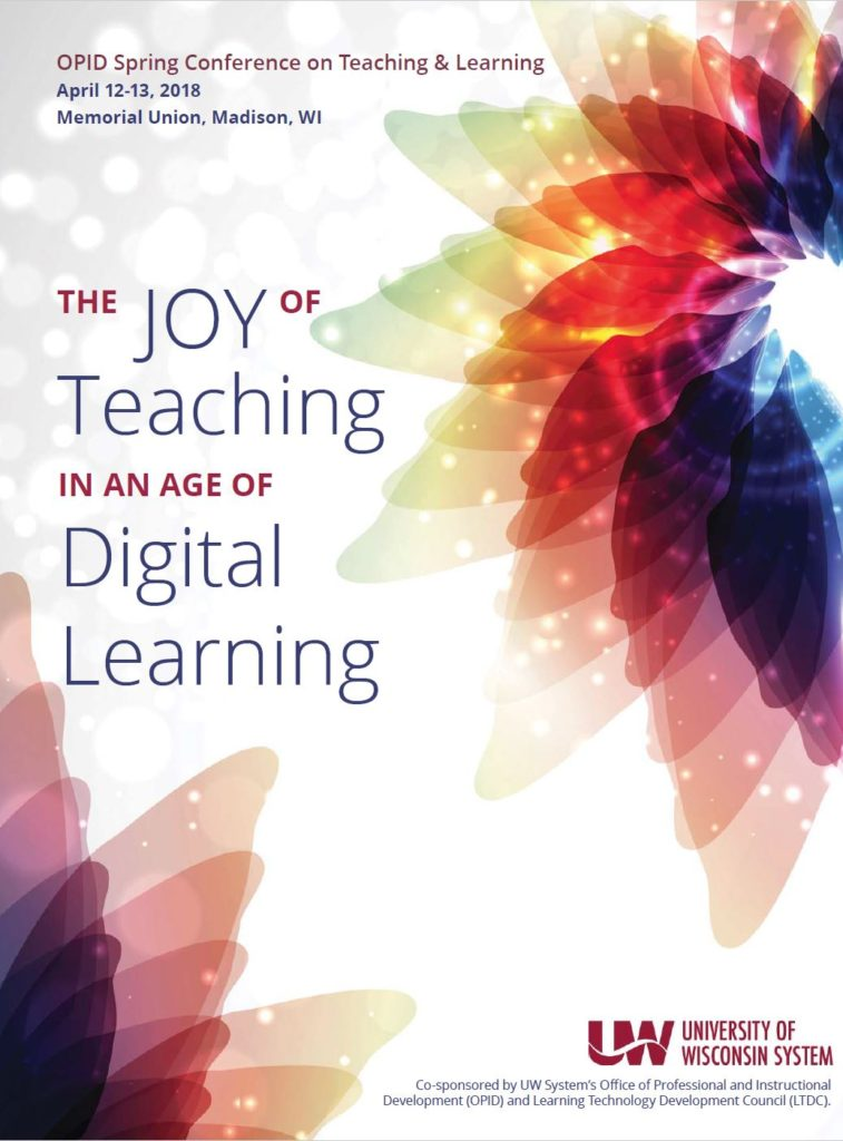 Program Cover: 2018  Spring Conference on Teaching & Learning in an age of Digital Learning