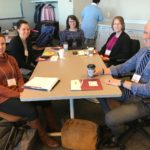 UW System Fall Advising Workshop participants networking before the workshop begins at the Pyle Center in Madison, Wisconsin, on October 23, 2018.