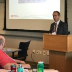 Ben Passmore, Associate Vice President for Policy Analysis and Research, speaking at the UW System Fall Advising Workshop at the Pyle Center in Madison, Wisconsin, on October 23, 2018.