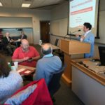 Chris Navia of the UW System Office of Academic and Student Affairs speaking at the Fall Advising Workshop October 2018