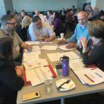 UW-Oshkosh team working at the UW System Fall Advising Workshop October 2018
